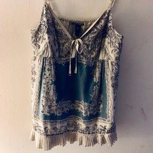 Lucky Brand Silk/Cotton Print Tank Top Size XL